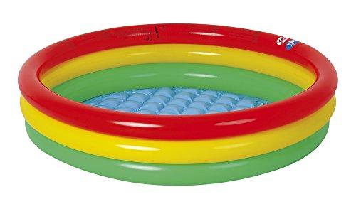 Jilong Baby Pool 100x22cm Kinderpool Planschbecken Schwimmbecken mit aufblasbarem Sicherheits-Boden