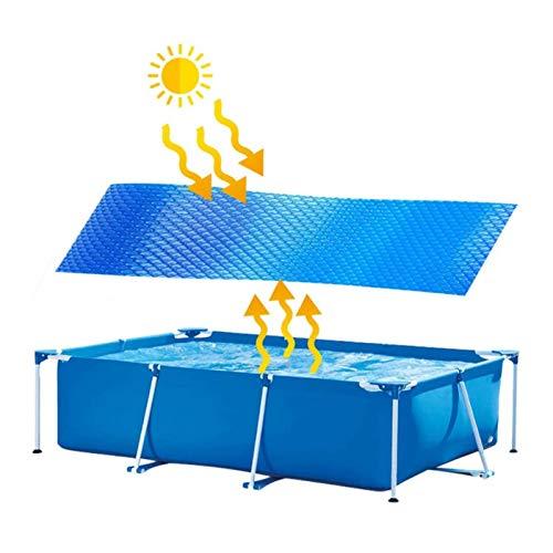Buding Solarplane Pool Rechteckig Solarabdeckplane Für Rectangular Frame Pool/Aufblasbar Family Pool, Umweltfreundliches Und Sparsames Aufheizen des Wassers Durch Sonnenenergie, 300 x 200 cm