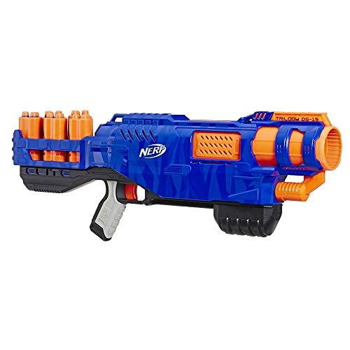 Trilogy DS-15 Nerf N-Strike Elite Spielzeug Blaster mit 15 Nerf Elite Darts und 5 Hülsen – Für Kinder, Teenager, Erwachsene