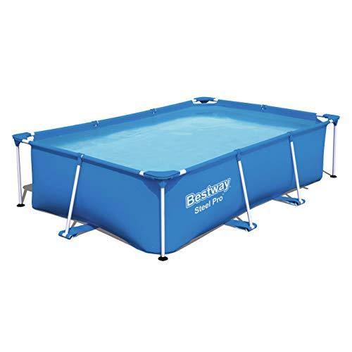 Bestway Steel Pro Frame Pool ohne Pumpe, viereckig 259x170x61 cm, Stahlrahmenpool, blau