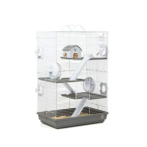 Wagner Cages ®   Hamsterkäfig Lenzkirch Käfig für Hamster mit sehr viel Zubehör, Mehrstöckig