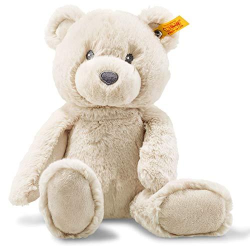 Steiff Bearzy Teddybär - 28 cm - Kuscheltier für Babys - Soft Cuddly Friends - weich & waschbar - beige (241536)
