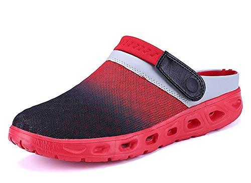 Herren Damen Atmungsaktiv Mesh Sandalen Sommer Beach Hausschuhe rutschfest Outdoor Sport Pantoletten Sandalen Slip-On Garden Clogs Paare Flip Flops