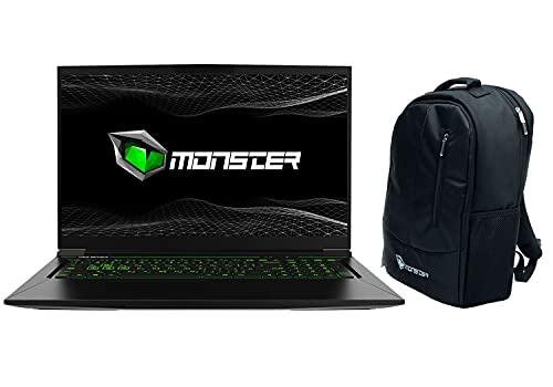 Monster Tulpar T7 V20.3 17.3 Zoll 144HZ Gaming Laptop, Intel Core i7 10750H Turbo Boost 5,0GHz, NVIDIA GeForce 6GB RTX-3060, 16GB RAM, 512GB SSD, Windows10 Home, Rucksack geschenkt (English Keyboard)