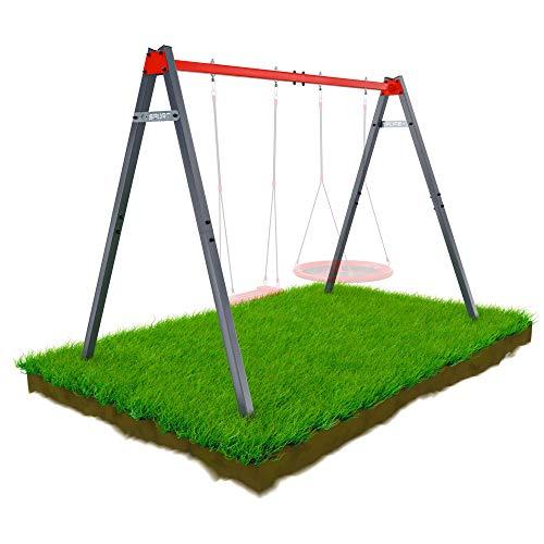 K-Sport: Metall-Gartenschaukel bis 150 kg belastbar I Wetterfeste Outdoor Kinderschaukel, für Storchennest, Hängematte etc. I Metallgestell ohne Zubehör für den Garten I Ideales Gerüst für den Sommer
