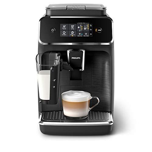 Philips 2200 Serie EP2232/40 Kaffeevollautomat, 3 Kaffeespezialitäten (LatteGo Milchsystem) Matt-schwarz/Schwarz-gebürstet