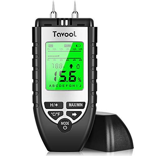 Feuchtigkeitsmessgerät Feuchtigkeitsmesser-Feuchtigkeits-Detector Feuchtigkeitsdetektor mit Batterie und LCD-Display Digitales Feuchtemessgerät für Holz Brennholz Wände Estrich Baustoffen