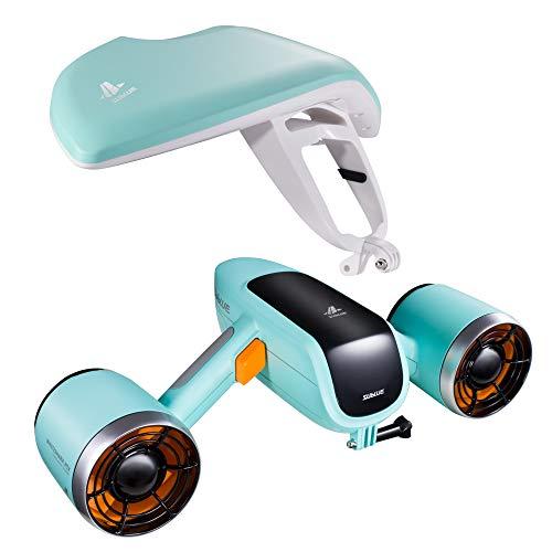 Sublue WhiteShark Mix Unterwasser Scooter Tauchscooter mit Action Kamera Halterung, Doppelmotor, 40m Wasserdichter Elektroroller für Wassersportarten, Tauchen, Schnorcheln und Seeabenteuer (Grün)