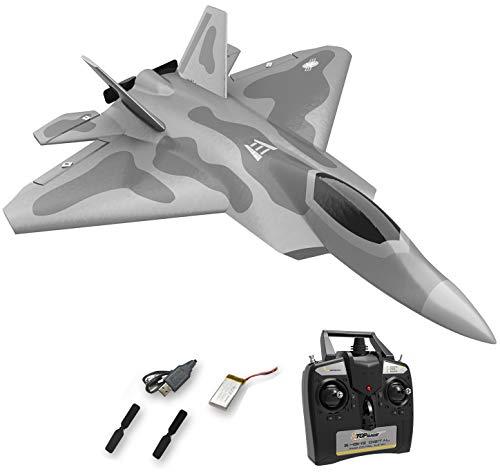 Top Race Rc Jet 4-Kanal ferngesteuerte Kampfflugzeuge für Erwachsene, Hochgeschwindigkeitsflugzeuge, nur für Fortgeschrittene TR-F22B