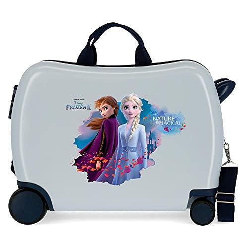 Disney Frozen Die Eiskönigin Nature is magical Kinder-Koffer Blau 50x39x20 cms Hartschalen ABS Kombinationsschloss 34L 2,1Kgs 4 Räder Handgepäck