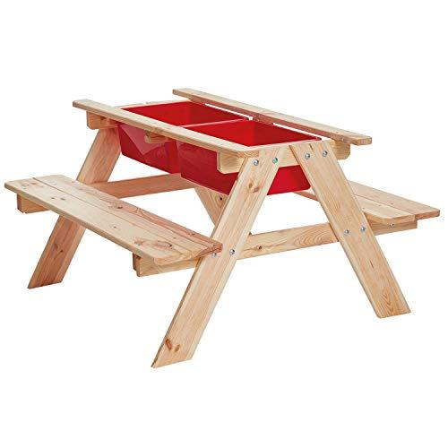 Miganeo Sand- und Wassertisch Matschtisch Spieltisch Wasserspieltisch Matschküche 75206