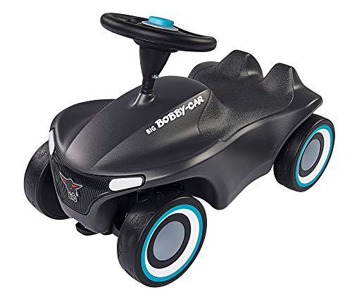 BIG-Bobby-Car-Neo Anthrazit - Rutschfahrzeug für drinnen und draußen, Kinderfahrzeug mit Flüsterreifen und zwei Felgen farben zum tauschen, für Kinder ab 1 Jahr