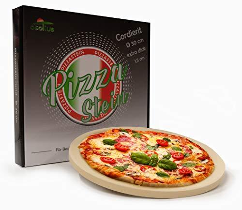 osoltus Profi Pizzastein Cordierit rund 30cm x 1,5cm für Knusperpizza