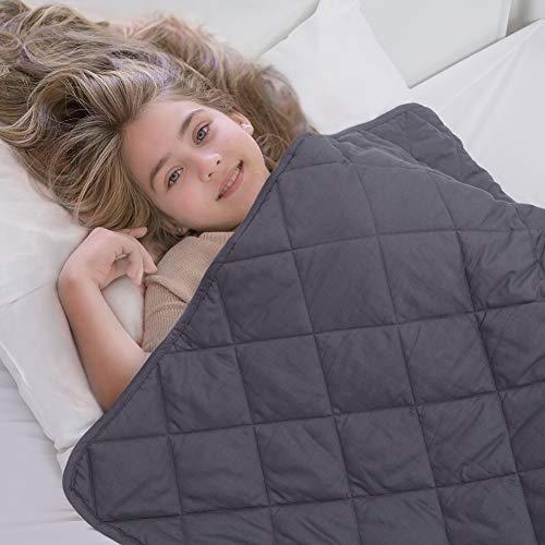 ZZZNEST Therapiedecke Anti Stress, Gewichtsdecke für Erwachsene und Kinder, Beschwerte Decke aus 100% Baumwolle, Schwere Decke für Angst und Schlafstörungen (Grau, 135 x 200 cm 4 kg)