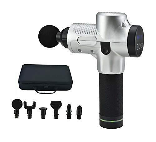 Massagepistole Muskelmassagegerät zur Schmerzlinderung mit 6 Massageköpfen und 30 Geschwindigkeiten, LED-Anzeige Touchscreen
