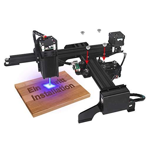 3W Yofuly vorgerückte JL2 Laser Graviermaschine, 10 Minute Installation, automatische Positionierung, Vorschauposition, Offline-USB-Drucken, Sitz für Plastikholz-Brett PVC ect
