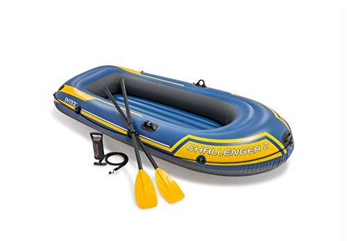 Intex Challenger 2 Set Schlauchboot - 236 x 114 x 41 cm - 3-teilig - Blau / Gelb