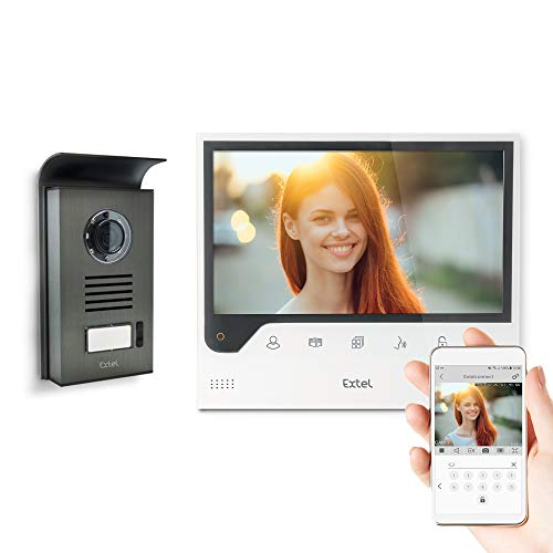 EXTEL 'CONNECT' Videosprechanlage, incl. Smartphone Anbindung, 2 Draht Technik, - 7' - Touch-Monitor