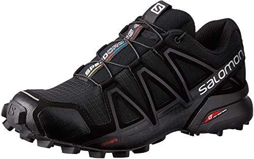 Salomon Damen Trail Running Schuhe, SPEEDCROSS 4 W, Farbe: schwarz (black/black/black metallic) Größe: EU 38