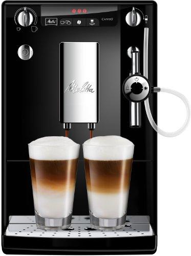 Melitta Caffeo Solo & Perfect Milk E957-101 Schlanker Kaffeevollautomat mit Auto-Cappuccinatore   Automatische Reinigungsprogramme   Automatische Mahlmengenregulierung   Schwarz