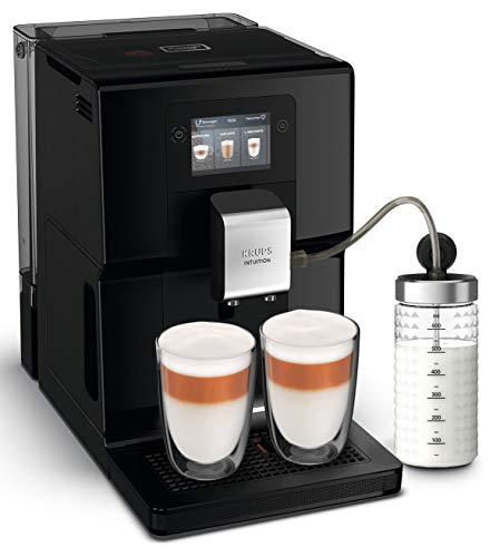 Krups EA8738 Intuition Preference Kaffeevollautomat inkl. Milchbehälter | Smartphoneähnlicher Farb-Touchscreen | Smart Slide Technology | intuitives Lichtsystem | 11 Getränke | OTC-System