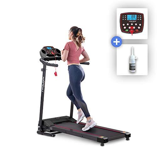 Walden Sports Elektrisches Laufband für zu Hause F3600 klappbares Laufband 600 W Motor 12 voreingestellte Programme 10 km/h LCD Bildschirm Modell 2020 + Laufband Schmiermittel
