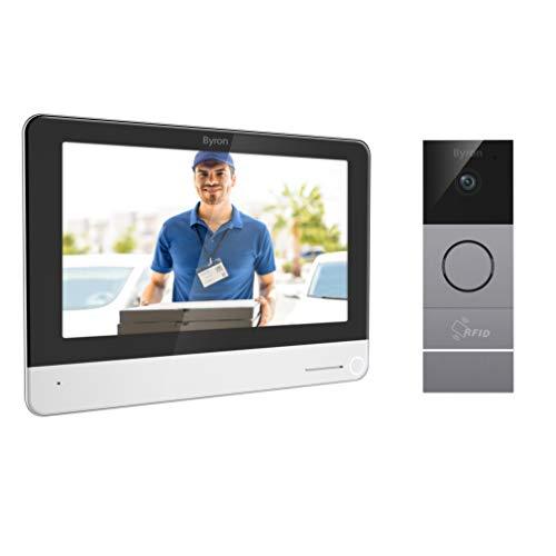 Byron DIC-23312 Wifi Video Türgegensprechanlage mit 7' Touchscreen-Display, RFID tags & Aufzeichnungsfunktion