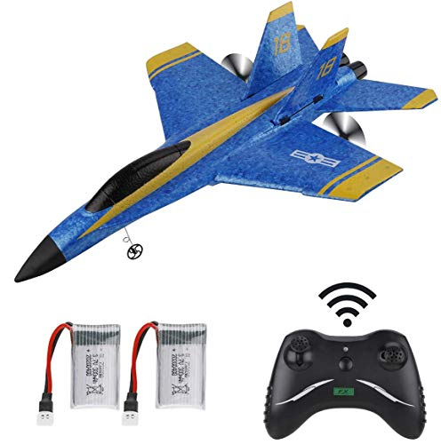 Makerstack RC Flugzeug F-18 ferngesteuertes Flugzeug 2,4 GHz 3,5 Kanal 6 Achsen Gyro RTF Flugzeug Flugbereit für Kinder Jungen Anfänger