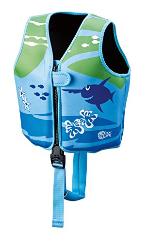 Beco 09639-008 Sealife Schwimmlernweste, Mehrfarbig (blau/grün), M