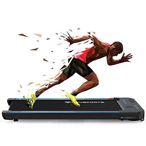 CITYSPORTS Laufband, 440W Motor, eingebaute Bluetooth-Lautsprecher, einstellbare Geschwindigkeit 1-6KM, LCD-Bildschirm und Kalorienzähler, ultradünn und geräuschlos, für Heim/Büro