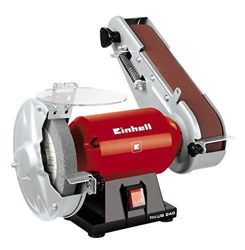 Einhell Stand-Bandschleifer TH-US 240 (240 W, inkl. Grobschleifscheibe und Schleifband, Scheibendurchmesser 150 mm, Schleifband 50x686 mm)