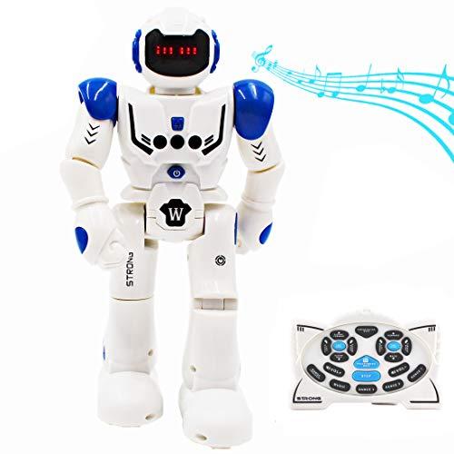 deAO Ferngesteuerter Spielzeugroboter Programmierbares Intelligenter Interaktiver Gestenerkennungs Roboter Tanzen,gehen, singen Intelligente funkferngesteuertes LED Roboter-Geschenk für Kinder