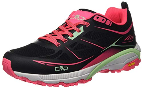 CMP – F.lli Campagnolo Damen Hapsu Wmn Nordic Walking Shoe Cross-Trainer, Schwarz (Nero-Gloss 84UE), 38 EU