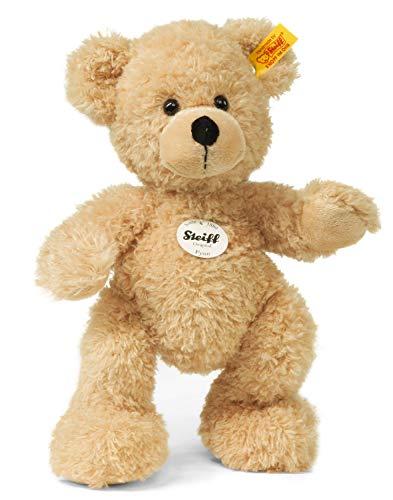 Steiff Teddybär Fynn - 28 cm - Teddy Kuscheltier für Kinder - beweglich & waschbar - beige (111327)