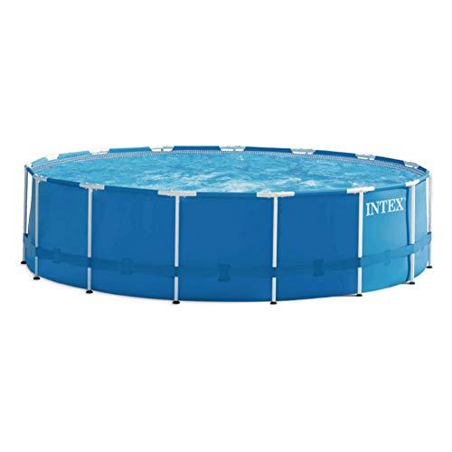 Intex Metal Frame Pool Set - Aufstellpool - Ø 457 x 122 cm - Zubehör enthalten