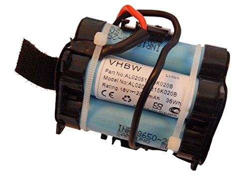 vhbw Akku passend für Gardena R38Li, R40Li, R45Li, R50Li, R70Li, R75Li, R80Li, 124562 Mähroboter Rasenroboter - (Li-Ion, 2000mAh, 18V) Batterie