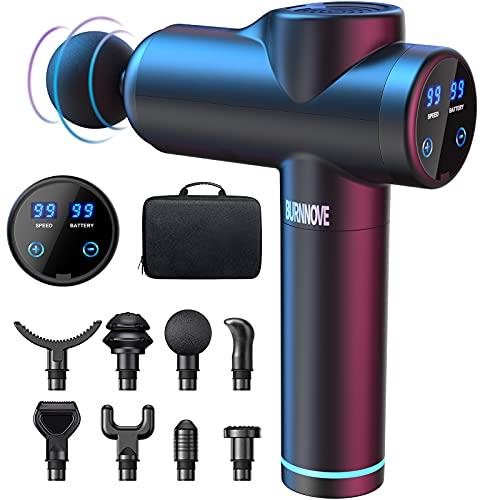 Massagepistole Massage Gun für Nacken Schulter Tiefen Massagegerät mit 99 Geschwindigkeiten 8 Massageköpfen Elektrisches Handmassagegerät 2550 mAh LED Anzeige Touchscreen