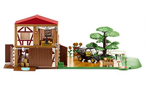 siku 5608, Bauernhof, Kunststoff, Multicolor, Inkl. Fahrzeug und Zubehör, Vielseitig aufbaubar, Viele Funktionen