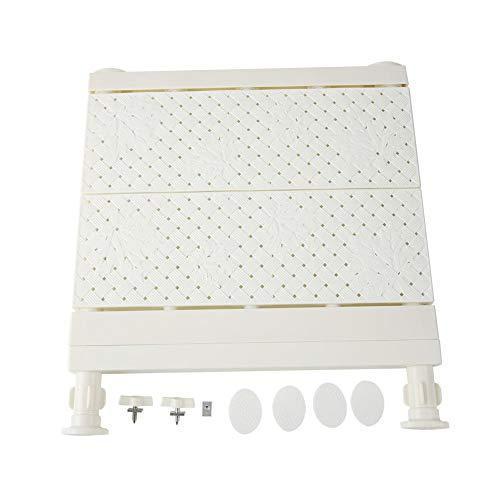 Verstellbares Lagerregal, Verstellbares Lagerregal Erweiterbares Trennregal für Garderobe/Schrank/Bücherregal Platzsparendes Sammelfach(Weiß 53-90cm)