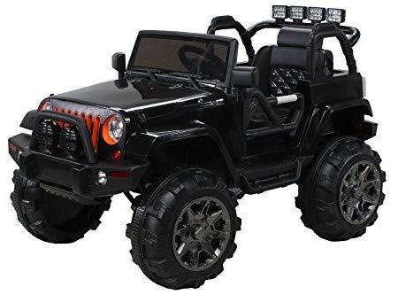 Actionbikes Motors Offroad Jeep Adventure - 2 x 35 Watt Motor - Reifen mit Weichgummiring - Fernbedienung (Schwarz)