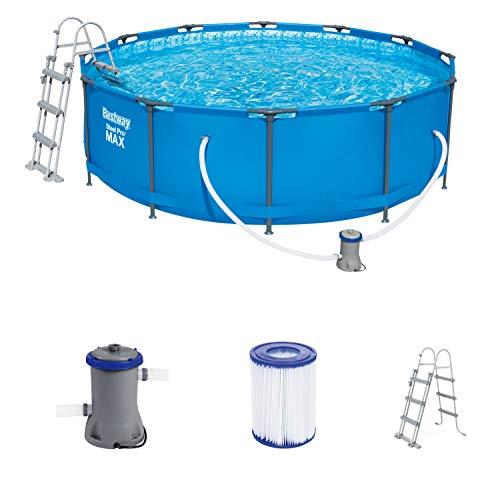 Bestway Steel Pro MAX 366x366x100 cm, Frame Pool rund mit stabiler Stahlkonstruktion