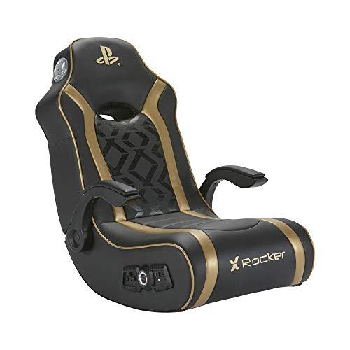 X Rocker Sony Playstation Gold 2.1 Gaming Sessel / Floor Rocker mit 2.1 Soundsystem