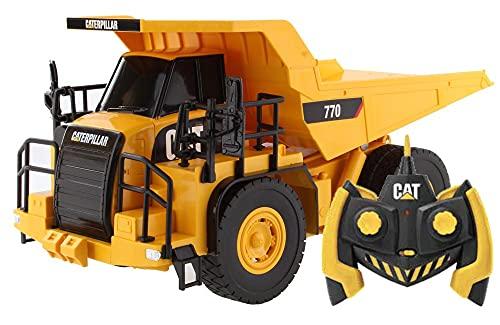 Diecast Masters 23004 - Ferngesteuerter Caterpillar RC Mining Truck 770, CAT Muldenkipper als detailgetreues, realistisches Baufahrzeug in 1:35, ca. 26,5 x 14,5 x 10,5 cm, ca. 25 m Reichweite, 8+
