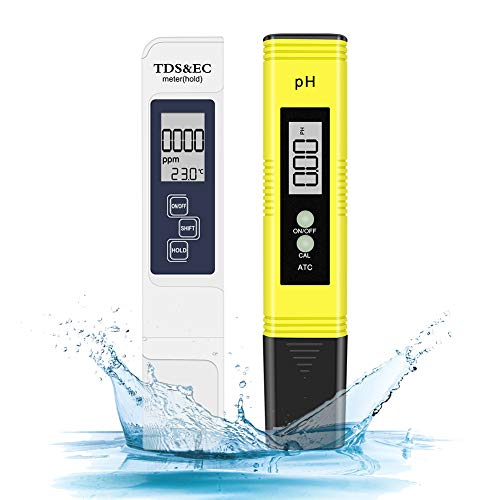 Digitale pH und TDS Messgerät Combo, 0,05ph pH Tester mit hoher Genauigkeit +/- 2% Auslesegenauigkeit TDS Tester, Wasserqualität Tester für Trinkwasser/Schwimmbad/Aquarium/Pools