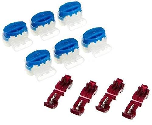 Genisys 6 Kabel Verbinder + 4 Anschlussklemmen kompatibel für Gardena ® Mähroboter (Original von 3M)