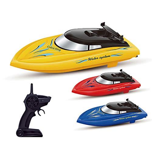 Bixmox Ferngesteuertes Boot RC Boot 2,4G Mit 2 Motoren Schnelle Geschwindigkeit Speed Boot Ferngesteuertes Spielzeug-speedboot (Blau)