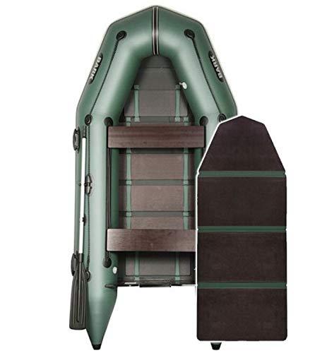 BARK Profi Schlauchboot für Motor BT-290 (2,9m) Schwerlast Paddelboot Angelboot Freizeitboot Motorboot Elektromotor fünfschichtig PVC (2.9m BT-290, Grün)