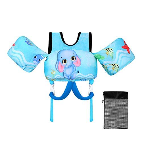 Viewfun Badeanzug-Schwimmhilfe für Kinder,Schwimmhilfe für Kinder und Kleinkinder 2-7Jahre, 15-30 kg, Schwimmgürtel für Jungen und Mädchen (Elefant)