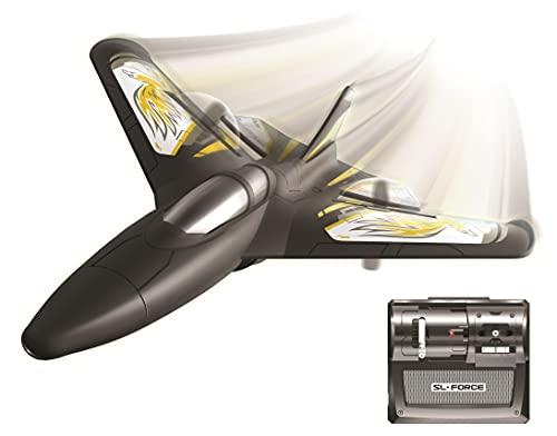 FLYBOTIC RC 85736 X-Twin by Silverlit, ferngesteuertes Flugzeug, für den Innen- und Außenbereich, einfache Steuerung, 2.4 Ghz, 30 cm, schwarz, ab 10 Jahren