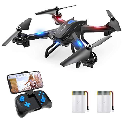 SNAPTAIN S5C 720P Drohne mit HD-Kamera, FPV, Quadrocopter WiFi mit einem Knopf, Ab- und Erdungsfunktion, G-Sensor, 3D Flip, Hovering-Funktion, kompatibel mit VR-Box, geeignet für Anfänger und Kinder.